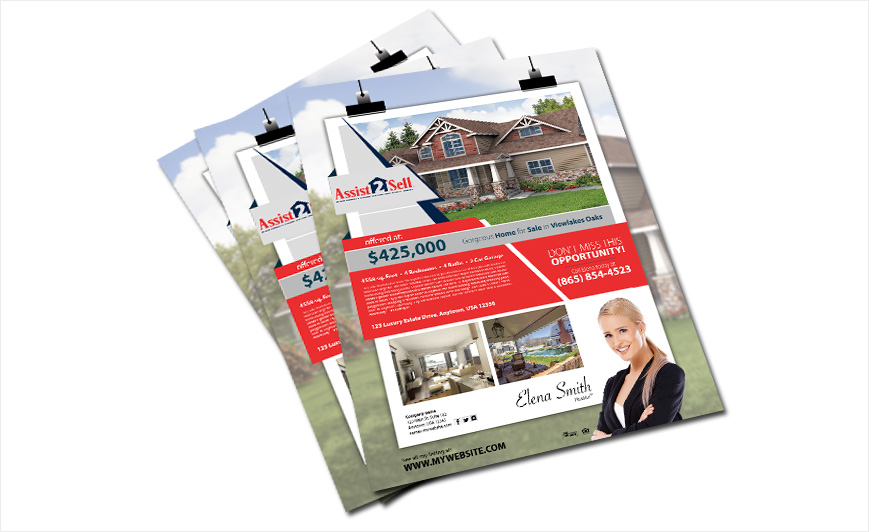 assit 2 sell flyers realty studio design