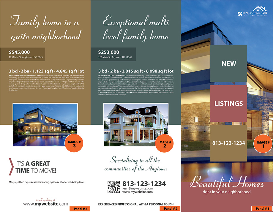 Real Estate Brochure Samples  Realtor Brochure Samples