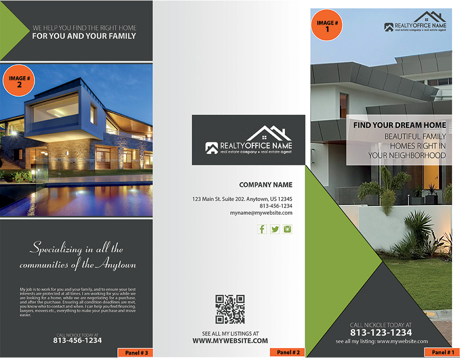 Real Estate Brochure Template | Realtor Brochure Template