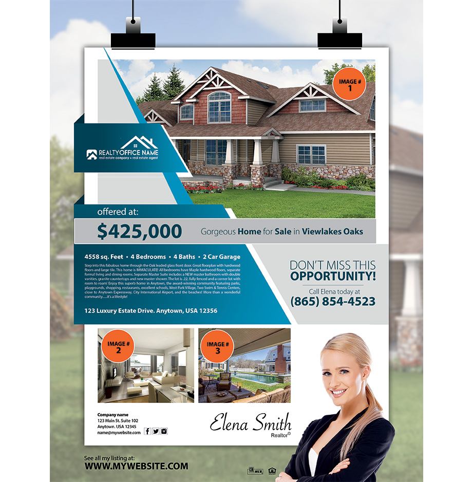 Real estate flyer samples real estate agent flyer samples for Real estate home ideas