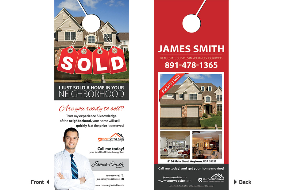 Wonderful Realty Door Hangers With Free Templates Design And High Quality Printing  Services