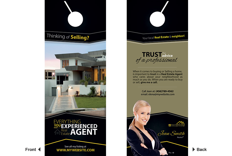 Real Estate Door Hangers | Real Estate Door Hangers Template ...
