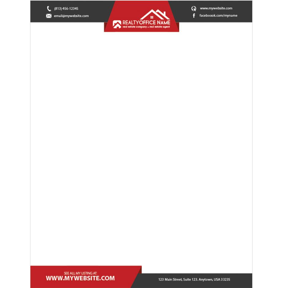 real estate letterhead ideas realtor letterhead ideas