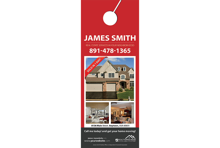 Real Estate Door Hanger Template Realtor Estate Door Hanger Template - Real estate door hanger templates