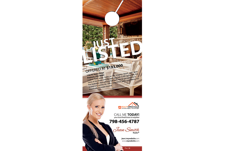 Real Estate Door Hangers | Real Estate Door Hangers Template
