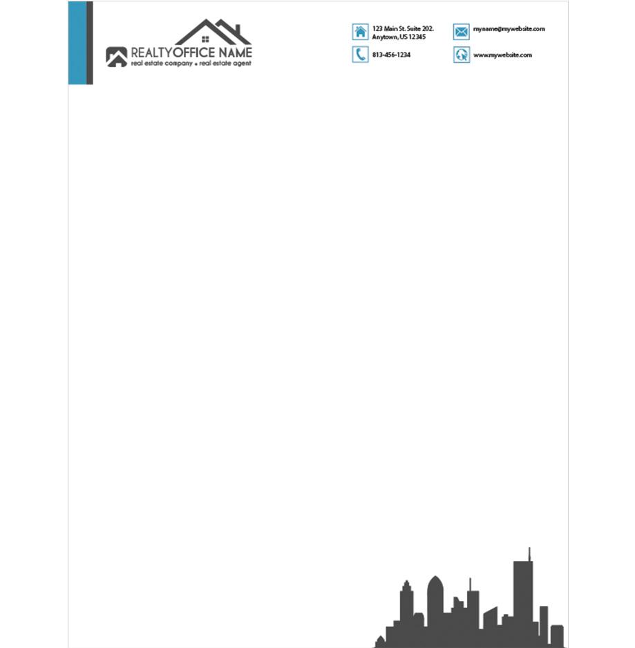 real estate letterhead samples