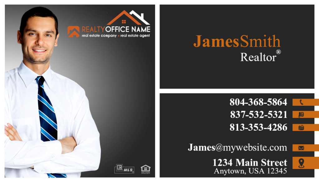 Real estate business cards template realtor business cards template real estate business cards accmission Images
