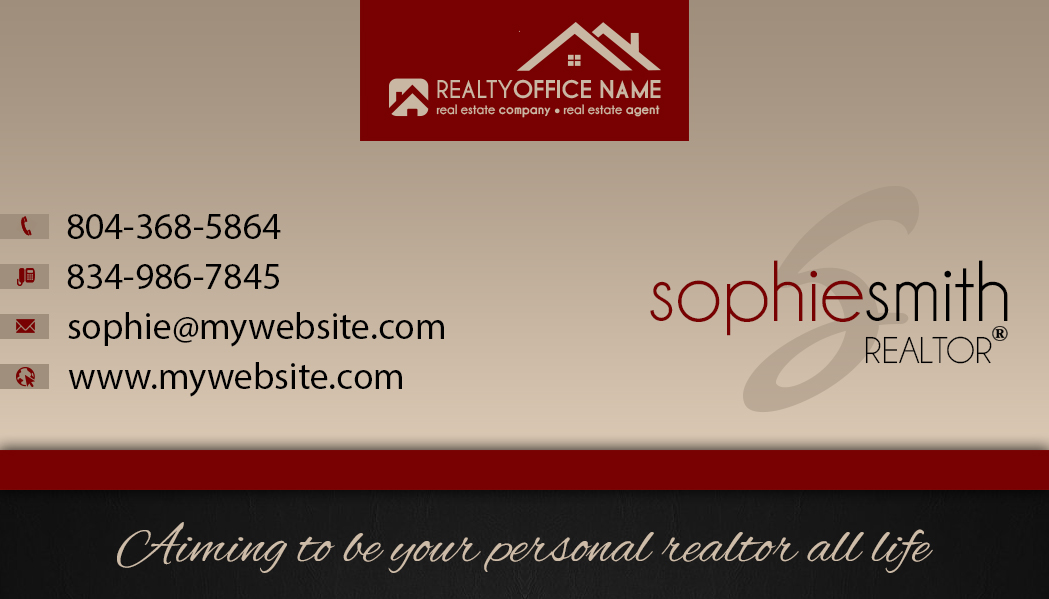 real estate business cards template realtor business cards template