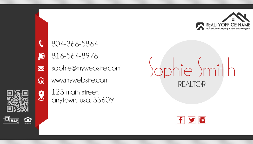 Real Estate Business Cards | Real Estate Agent Business Cards, Real ...