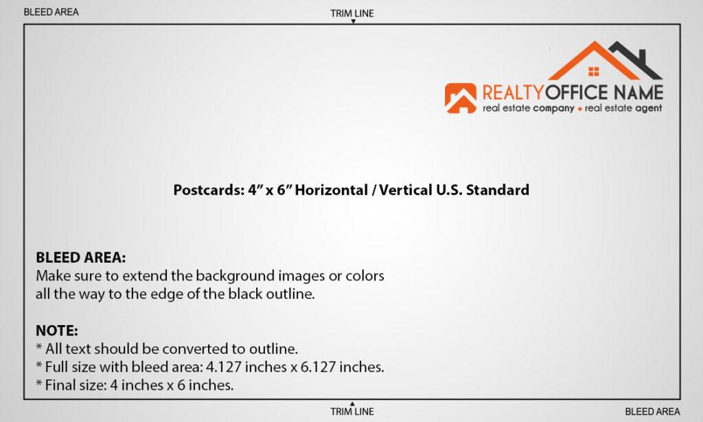 Real Estate Postcards Printing