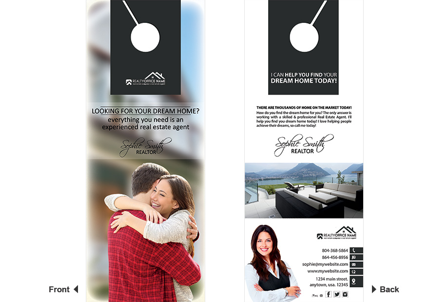 Real Estate Door Hanger Template | Realtor Estate Door Hanger Template