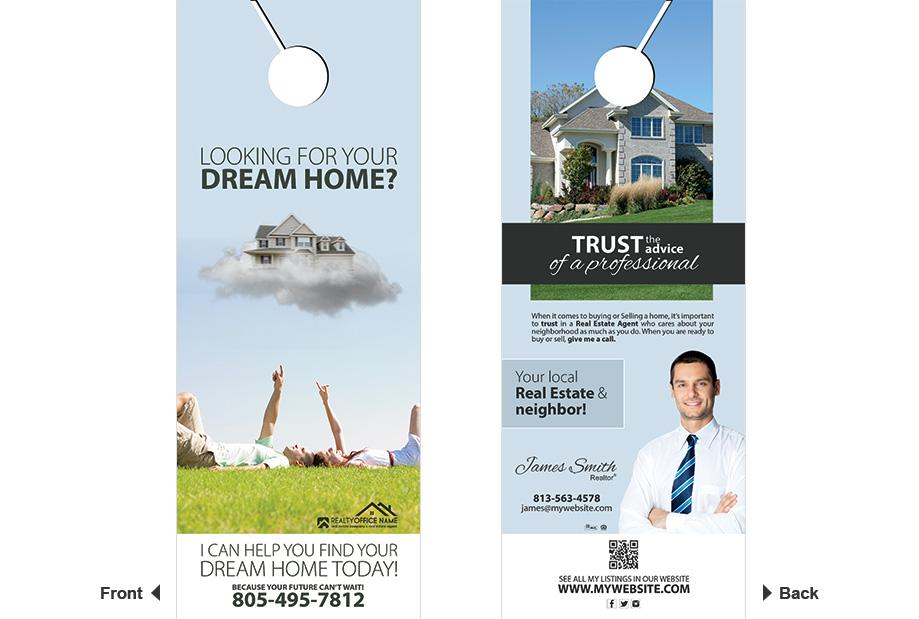 Real Estate Door Hangers | Real Estate Door Hangers Templates