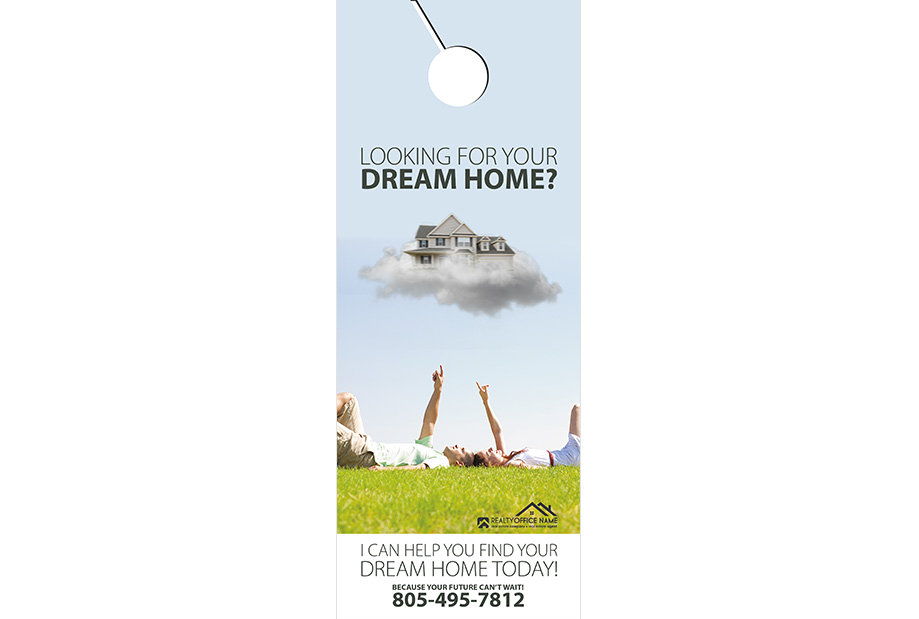 Real Estate Door Hanger Template | Realtor Door Hanger Template