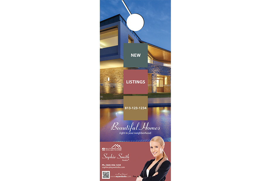 Real Estate Door Hangers | Real Estate Door Hangers Templates