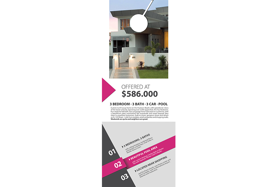 Real Estate Door Hanger Template real estate door hanger template | realtor estate door hanger template