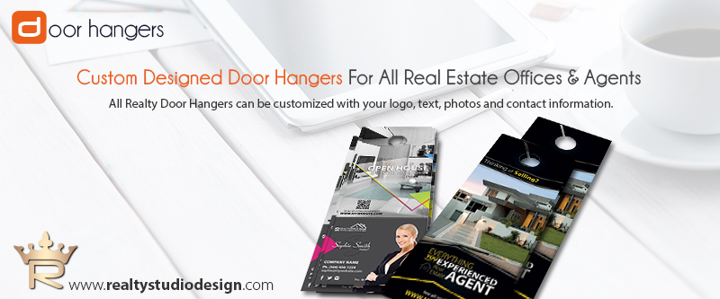 Real Estate Door Hangers, Real Estate Door Hanger Templates, Real Estate Agent Door Hanger Templates, Real Estate Office Door Hanger Templates, Realtor Door Hanger Templates, Real Estate Broker Door Hanger Templates