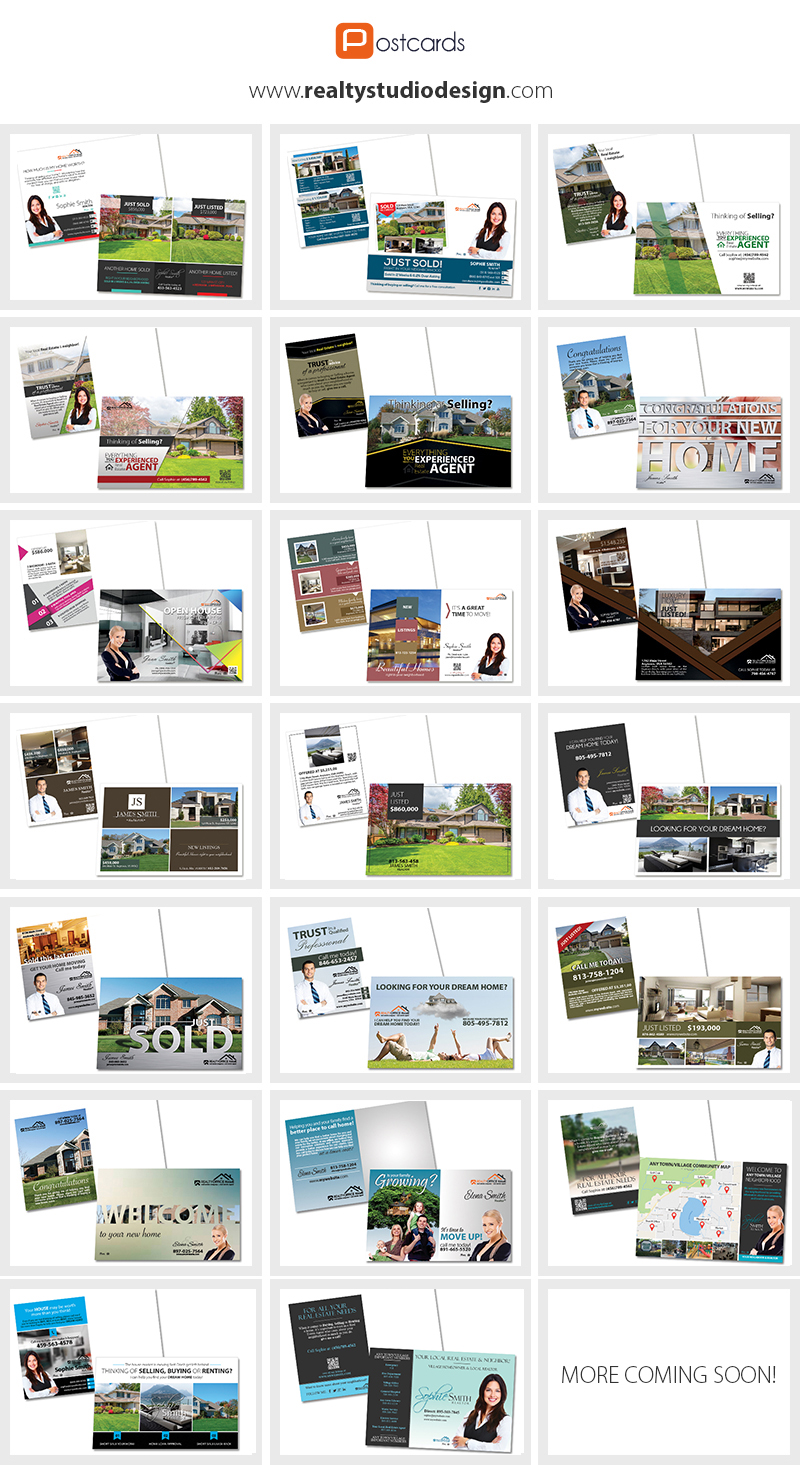 Real Estate Postcard Templates Real Estate Agent Postcard Templates