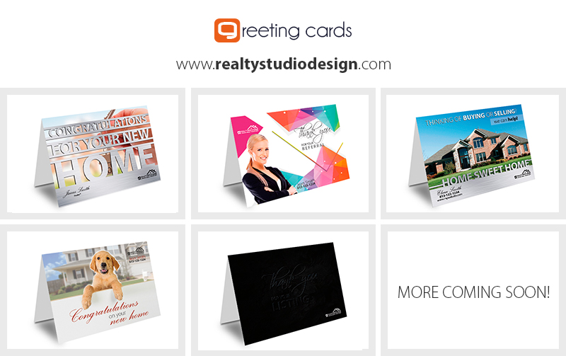 Real Estate Greeting Card Templates Agent Office Realtor