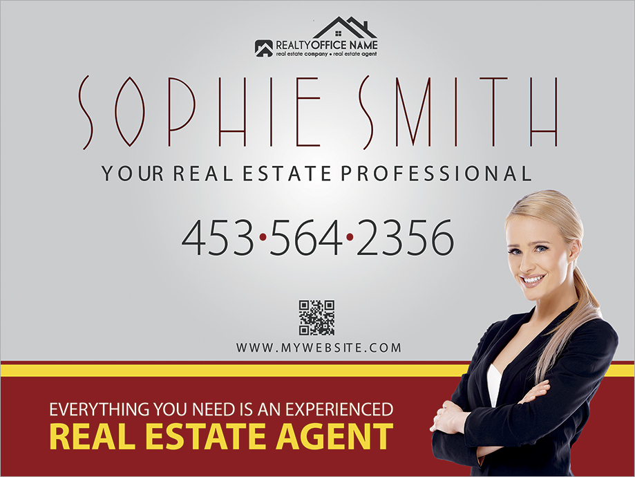 Real Estate Yard Signs Agent Office