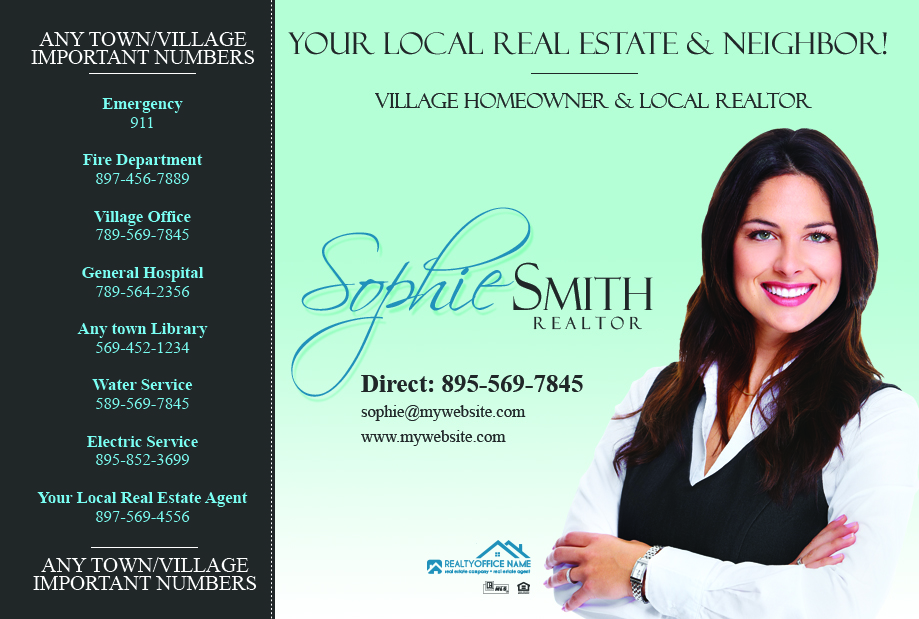 Real Estate Postcard Template Realtor Postcard Template