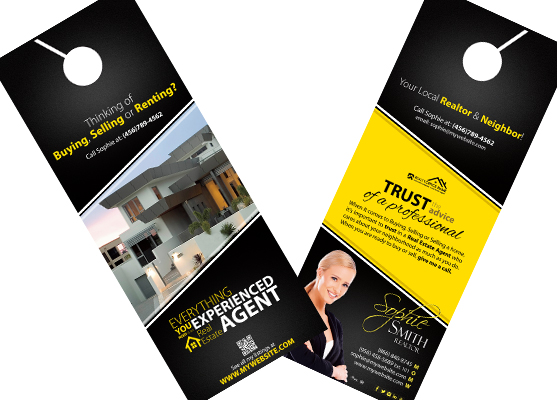 Real Estate Door Hangers | Real Estate Agent Door Hangers, Real Estate  Office Door Hangers