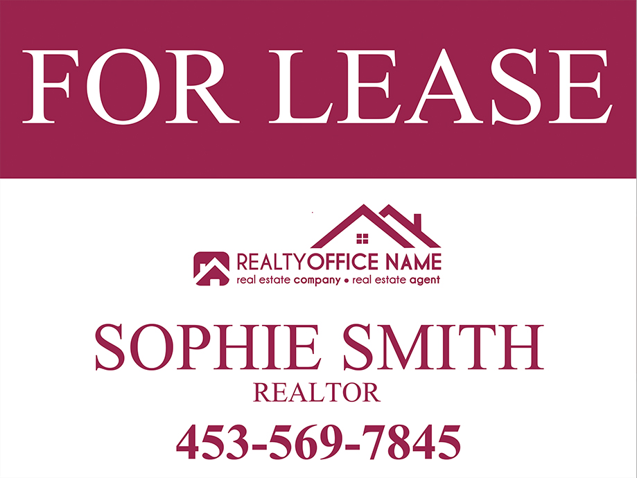 Real Estate Yard Sign Template | Realtor Yard Sign Template