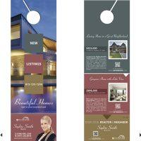 Real estate door hanger rip cards template 06 door for 106 door cards