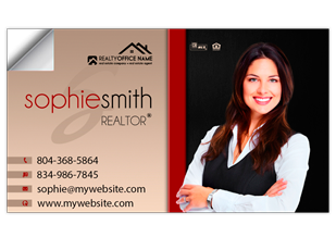 Real estate business card stickers realtor business card stickers your new business cards are printed quickly shipped to your door colourmoves Images