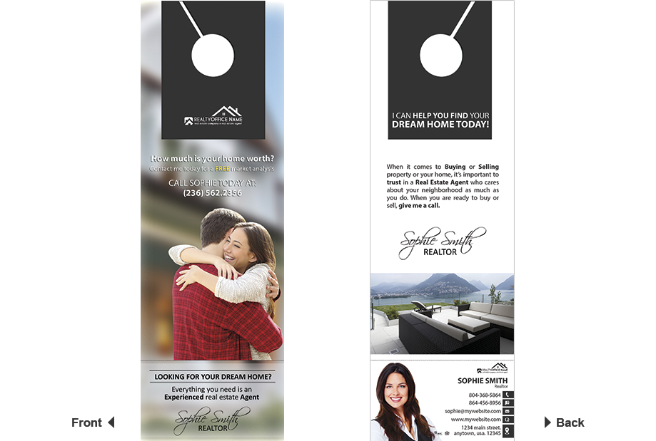 Door hangers Business Card Slits, Door Hanger Business Card Holder, Door hangers Tear Off Business Card