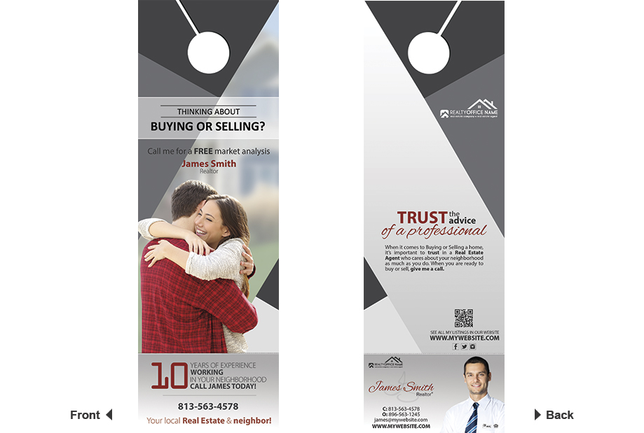 Real Estate Door Hanger Rip Cards Template 14 | Door Hanger Rip Cards