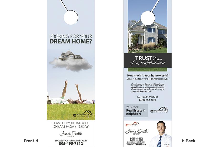 Door hangers Business Card Slits, Door Hanger Business Card Holder, Door hangers Tear Off Business Card