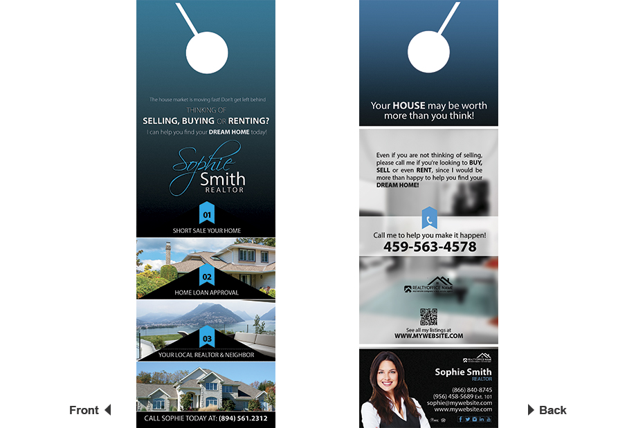 Real Estate Door Hanger Template real estate door hanger rip cards template 17 | door hanger rip cards