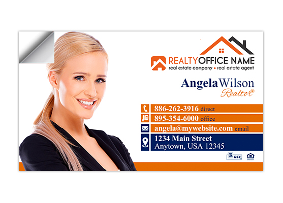 Real estate business card stickers realtor business card stickers colourmoves