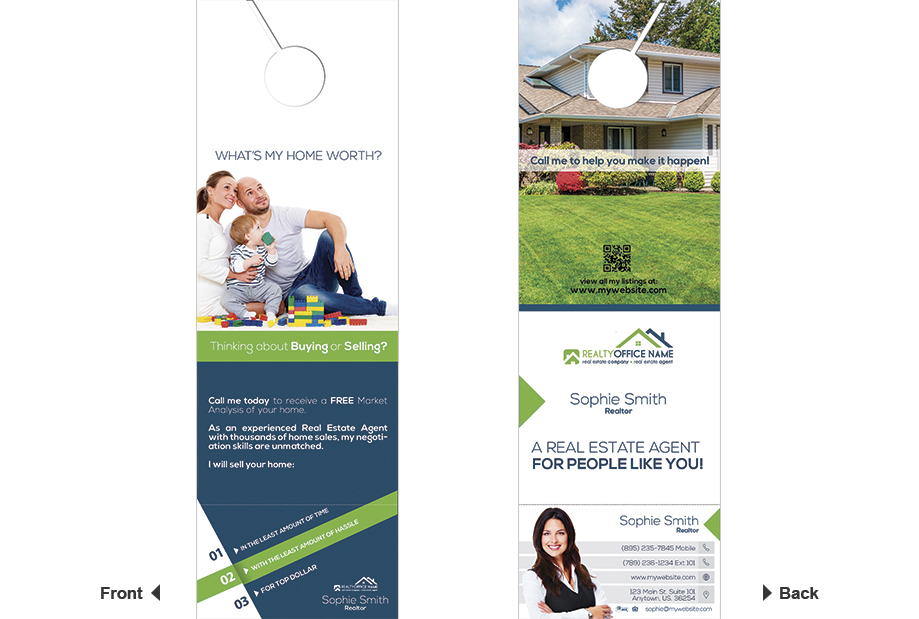 door hanger design real estate. Real Estate Door Hanger Rip Cards RSD-DC-103 Design