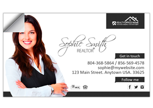 Real Estate Business Card Stickers Realtor Business Card Stickers