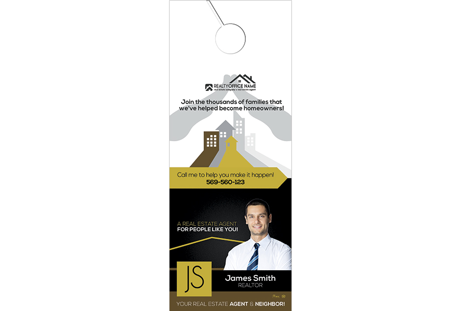 Real Estate Door Hanger | Real Estate Door Hanger Template