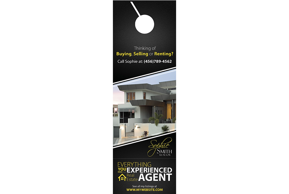 Real Estate Door Hanger Rip Cards Template 20 | Door Hanger Rip Cards