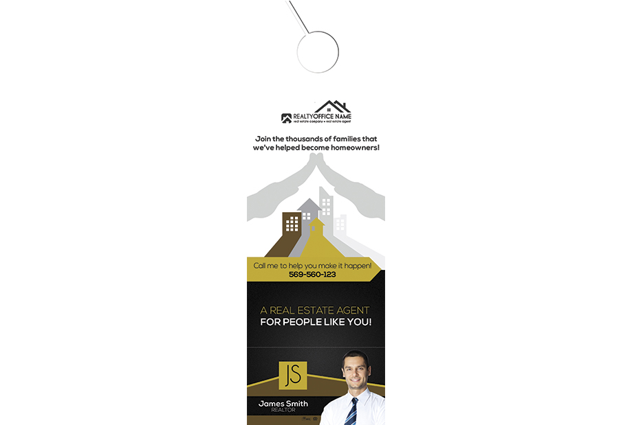 Real Estate Door Hanger Rip Cards Template 02 | Door Hanger Rip Cards