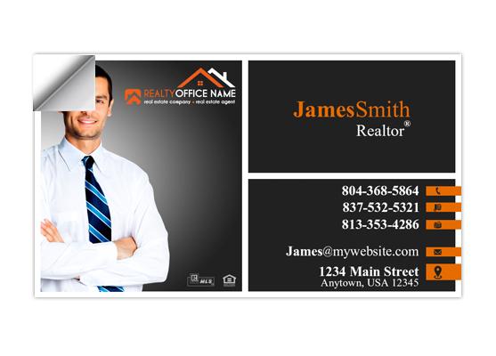 Real estate business card stickers realtor business card stickers business card sticker template rsd cs 103 colourmoves