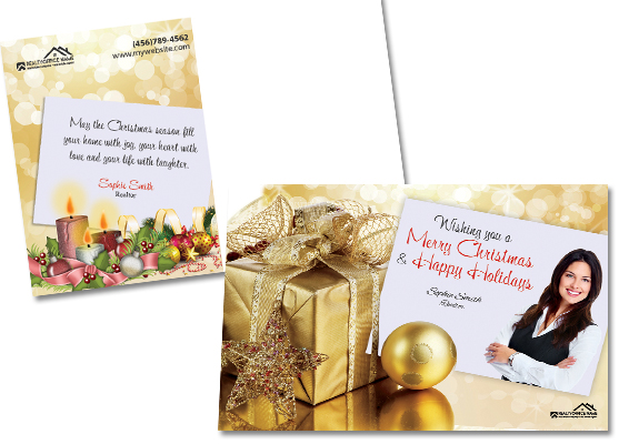 Real Estate Christmas Postcards | Realtor Christmas Postcards, Christmas Postcards for Real Estate Agents, Real Estate Agent Christmas Postcards