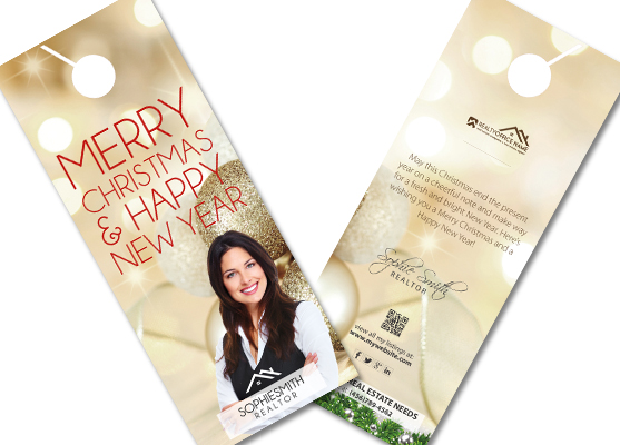 Real Estate Christmas Door Hangers | Realtor Christmas Door Hangers, Real Estate Agent Christmas Door Hangers, Broker Christmas Door Hangers