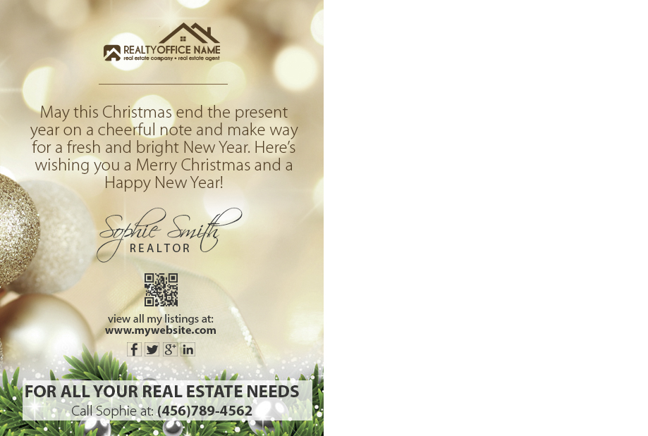Real Estate Holiday Postcard Ideas | Realtor Holiday Postcard Ideas