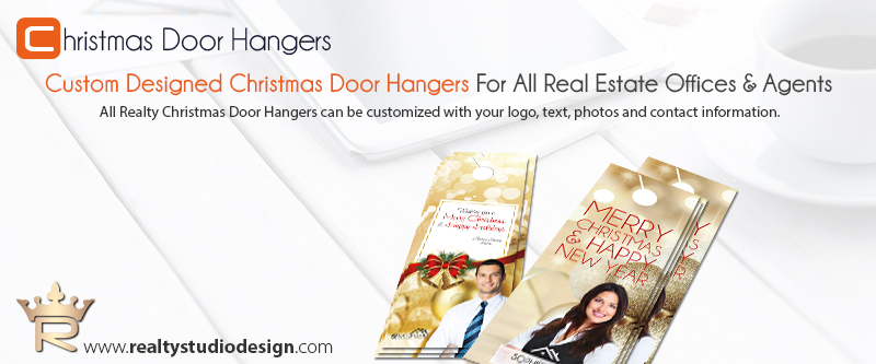 Real Estate Christmas Door Hanger Templates  Christmas Door Hanger