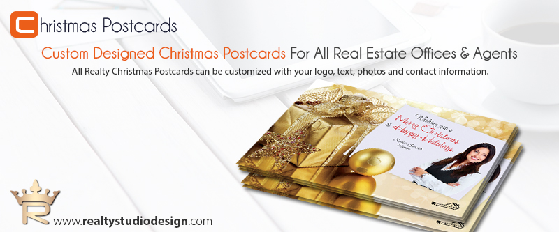Real Estate Christmas Postcards, Real Estate Christmas Postcard Templates, Realtor Christmas Postcard Templates, Real Estate Agent Christmas Postcard Templates, Broker Christmas Postcard Templates
