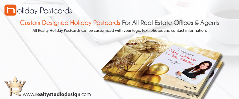 Real Estate Holiday Postcards, Real Estate Holiday Postcard Templates | Realtor Holiday Postcard Templates, Real Estate Agent Holiday Postcard Templates, Broker Holiday Postcard Templates