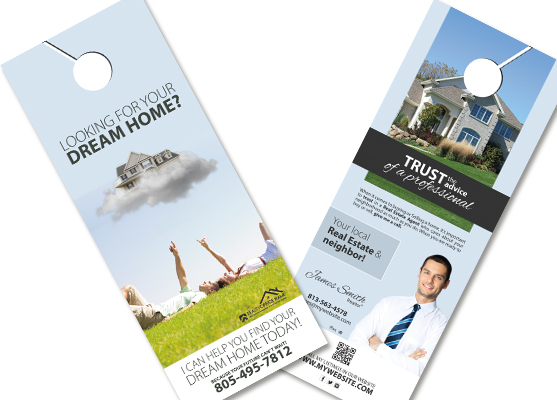 Real Estate Door Hangers Real Estate Agent Door Hangers - Real estate door hanger templates