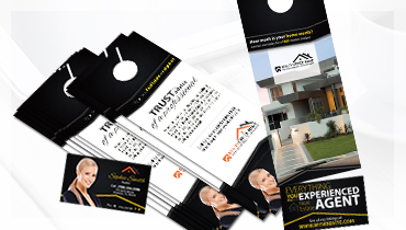Ddoor Hangers with Business Card