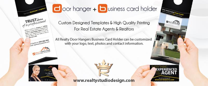 Real Estate Door Hanger Business Card Holder, Realtor Door hanger Business Card Holder