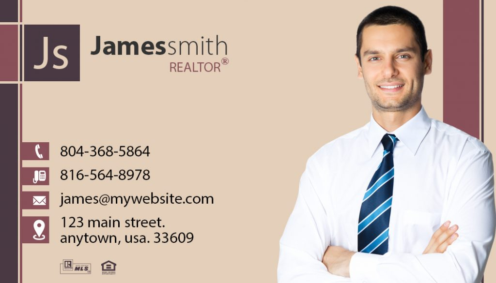 Modern Business Card Magnets Template