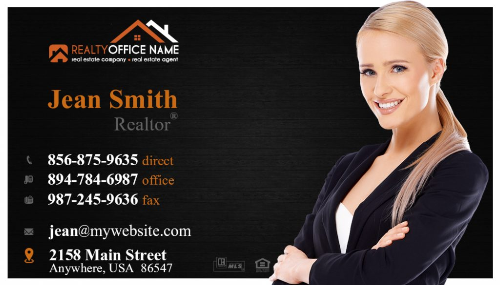 Real Estate Business Card Stickers Template 05 | Business Card ...